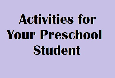 Learning Time – Activities to do with your Preschooler at Home