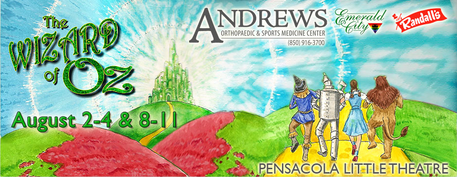 Follow The Yellow Brick Road…All the way to Pensacola Little Theater!