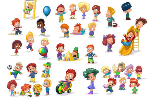 cartoon-children-clip-art-vector